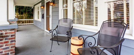 Image of Quiet Empty Porch with Two Chairs